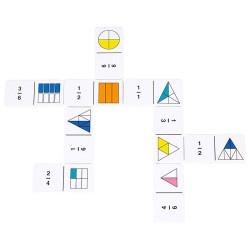 Dominó de Fracciones y Porcentajes  Arco Iris - Rainbow Fraction para 2-4 jugadores