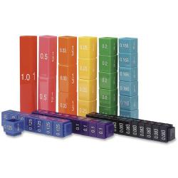 Cubos encajables de equivalencia Torre de Fracciones - soporte para el aula
