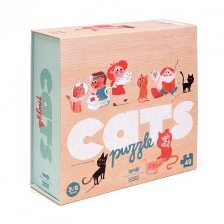Mi puzzle de gatos - 49 pzas.