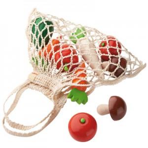 Bolsa de verduras de madera