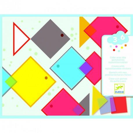 Collage Cuadrados Mágicos - pegatinas quita y pon