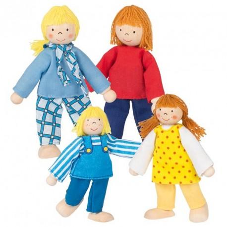 Familia joven para casas de muñecas