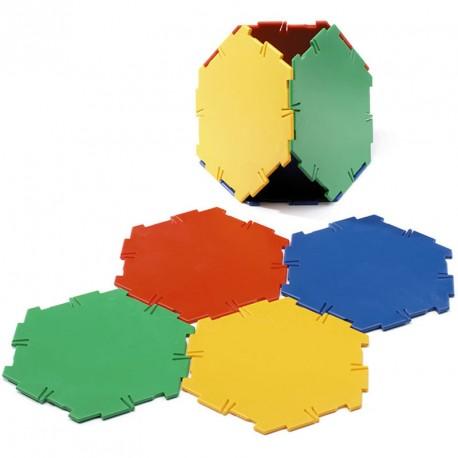 Polydron 20 hexàgons - set de formes geomètriques bàsiques