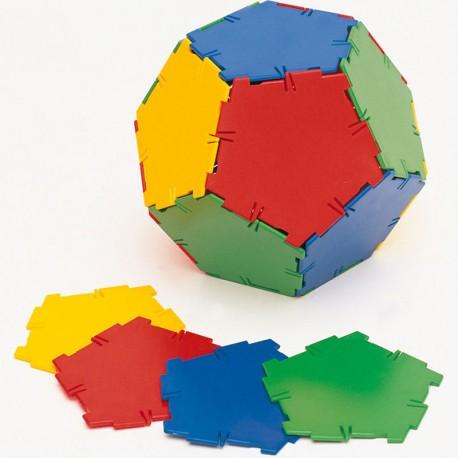 Polydron 24 Pentàgons - set de formes geomètriques bàsiques