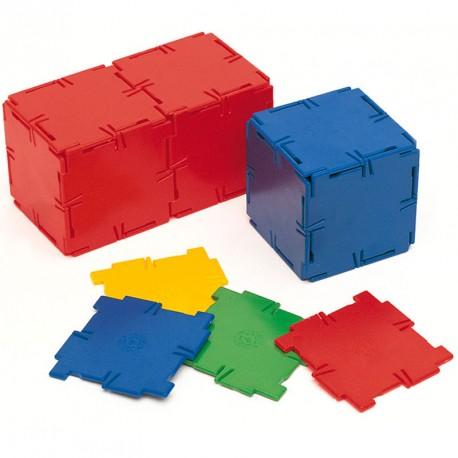 Polydron 40 cuadrados - set de formas geométricas básicas
