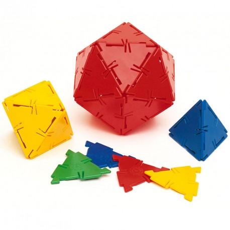 Polydron 100 triángulos equiláteros - set de formas geométricas básicas