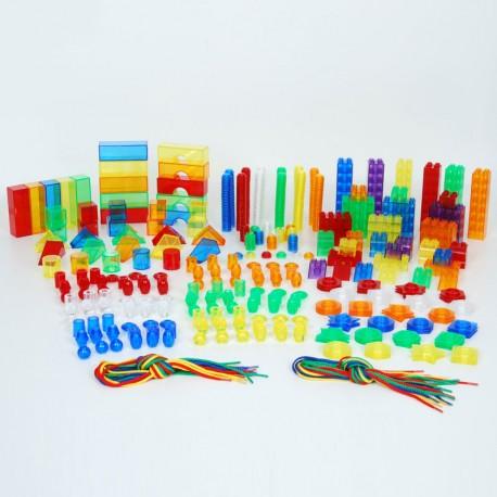 Set de Formas Translúcidas para aprender los colores en el aula - 634 pzas.