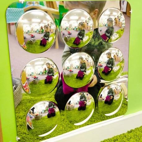Panel de espejos 49cm con 9 círculos convexos