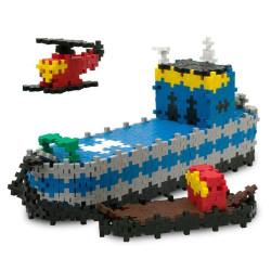 Plus-Plus Mini Basic Portaviones 480 piezas 3 en 1 colores básicos - juguete de construcción