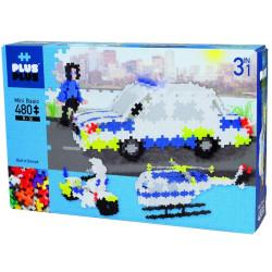 Plus-Plus Mini Policía 480 piezas 3 en 1 colores básicos y Neón - juguete de construcción