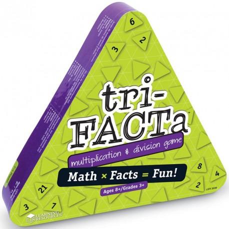 Tri-Facta - juego de multiplicación y división para 2-4 jugadores