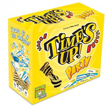 Time's Up Party 1 (versión amarilla) - juego de adivinar personajes para 4-12 jugadores