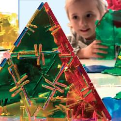 Polydron CRYSTAL Set básico 164 piezas transparentes - juguete de formas geométricas