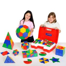 Polydron 266 piezas set de geometrías para el aula - juguete de formas geométricas