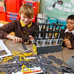 Polydron set de ingeniería - juguete con 109 piezas de construcción