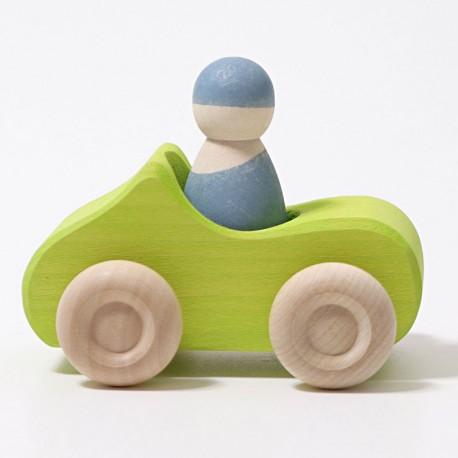 Descapotable 1 plaça - Cotxe de fusta verd