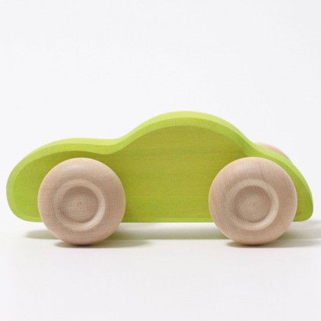 Cotxe de fusta de color verd - gama Slimline
