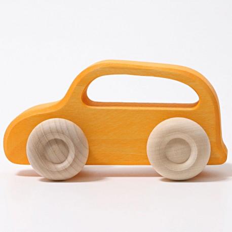 Coche de madera color amarillo - gama slimline