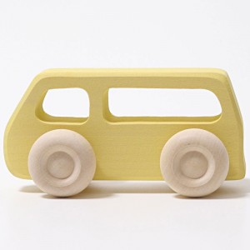 Furgoneta de madera color amarillo pastel - gama slimline
