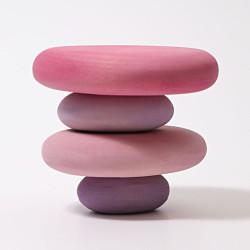 Piedras tambaleantes de madera - Flamenco