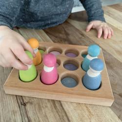 Tabla de clasificación colores pastel