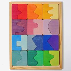 Cóncavo y Convexo - Set de construcción 24 piezas de madera