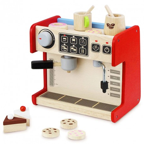 Cafetera de madera Coffee Shop - juego simbólico