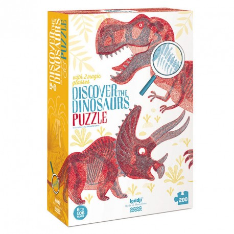 Puzzle Descubre Los Dinosaurios - 200 pzas.