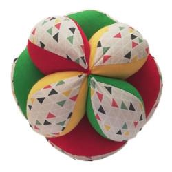 Pelota Montessori Triángulos multicolor -  pelota de tela