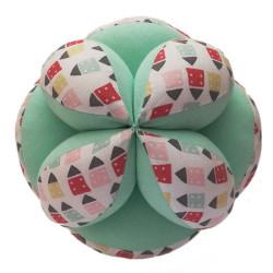 Pelota Montessori Casitas Mint -  pelota de tela