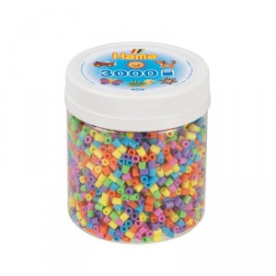 3000 perlas Hama midi 6 colores pastel en bote - New 2019