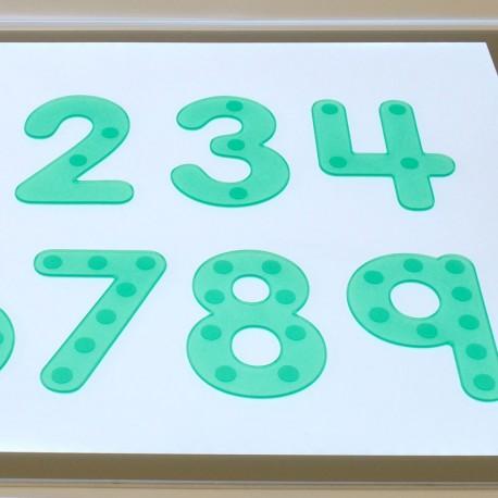 Números verds flexibles amb punts - Silishapes del 0 a 9