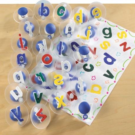 Sellos letras del alfabeto 7.5 cm - minúsculas