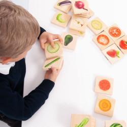 Frutas y Verduras para clasificar y emparejar - juego de memoria y clasificación