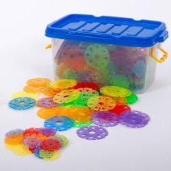 Discos conectables: 510 piezas octogonales translúcidas - juguete de construcción para peques