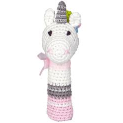 Sonajero de ganchillo Unicornio