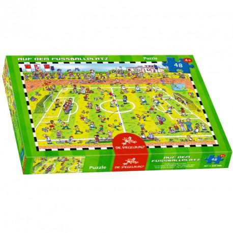 Puzzle En el campo de futbol - 48 pzas.