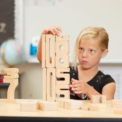 SumBlox Kit Familiar - 43 piezas de madera de haya + ficha de actividades
