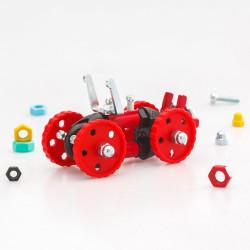 Kit Vehículo Rojo 3 en 1con SuperTool Formulabit - juguete de construcción con piezas de repuesto
