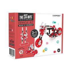 OFFBITS Kit Moto 3 en 1 con SuperTool Chopperbit - juguete de construcción con piezas de repuesto