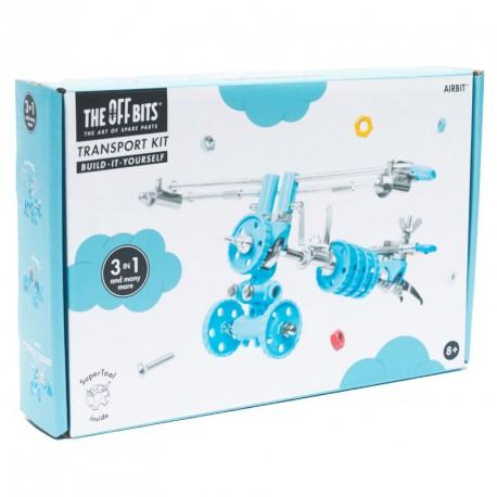 Kit avió 3 en 1amb SuperTool Airbit - joguina de construcció amb peces de recanvi