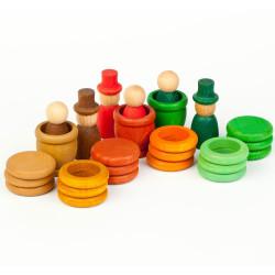 Aguamarina Otoño - juego de madera colores del otoño
