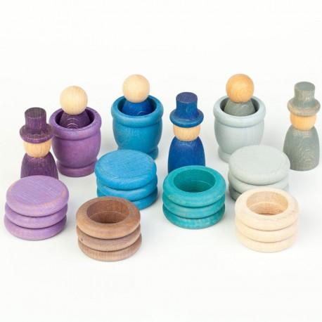 Aguamarina Hivern - joc de fusta colors freds