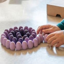 36 piezas en forma de huevo de madera para mandalas - lila