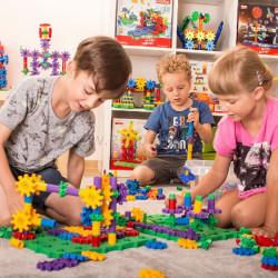 Korbo 430 EDU - juguete de construcción con engranajes, caja escolar