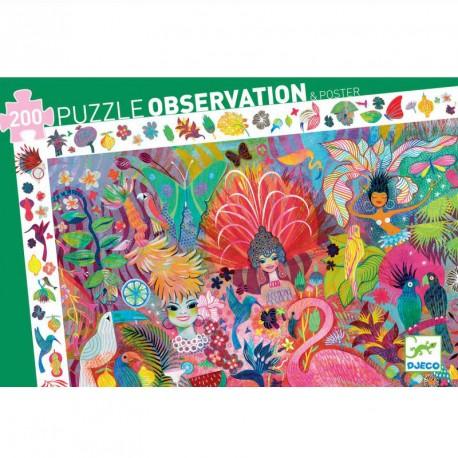 Puzle observació - Carnestoltes de Rio - 200 pces.