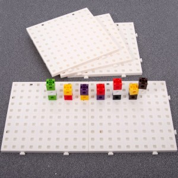 5 placas conectables para cubos encajables matemáticos multilink 2x2cm