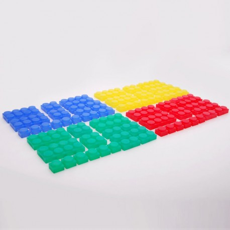 72 Bloques suaves de silicona translúcidos Silishapes