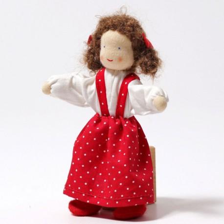 Lena - muñecos de tela para casa de muñecas