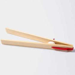 Pinzas de madera natural